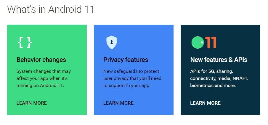novidades do android 11