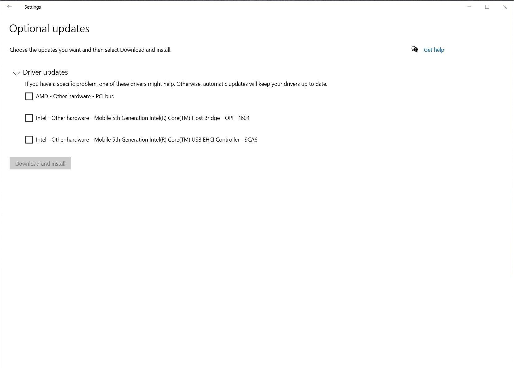imagem do windows update