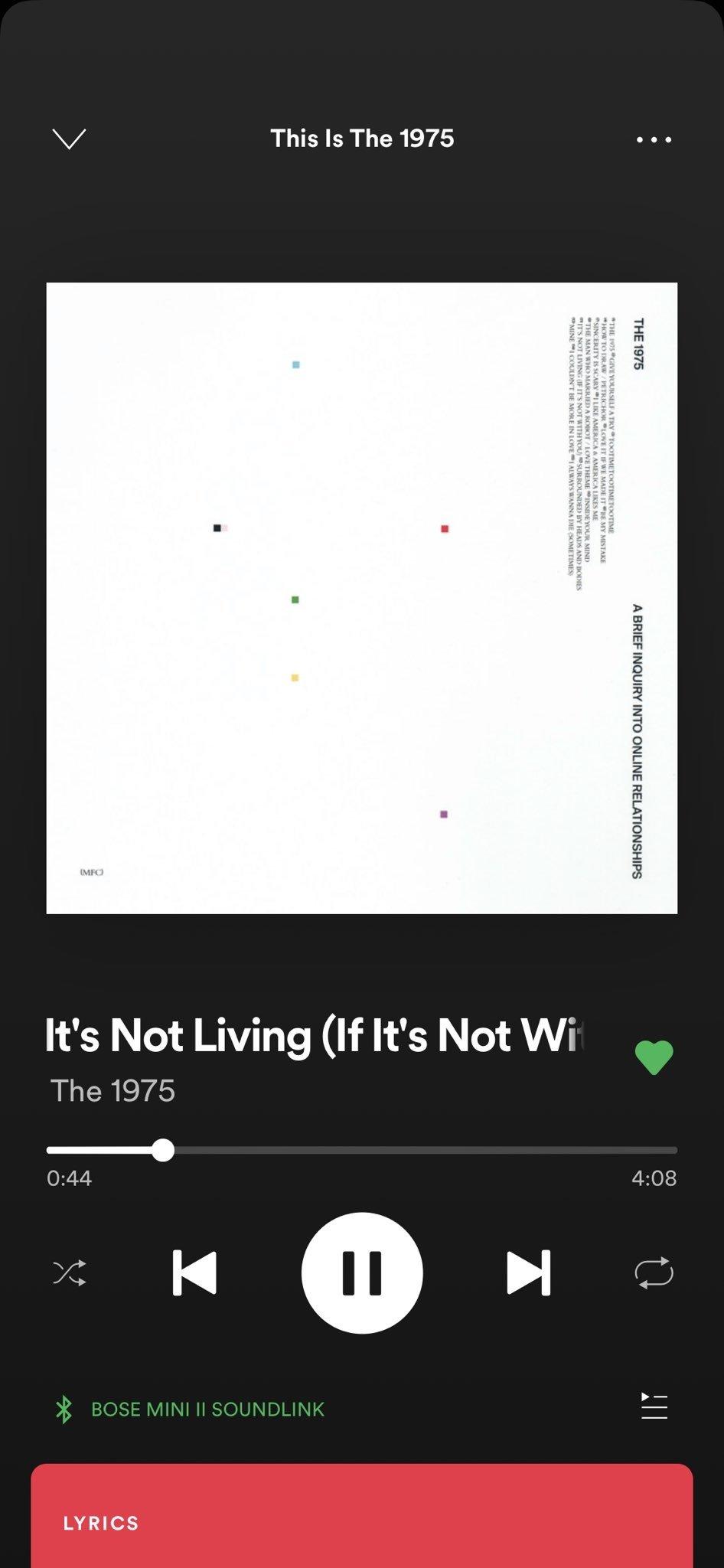 exemplo de letra nas músicas do spotify