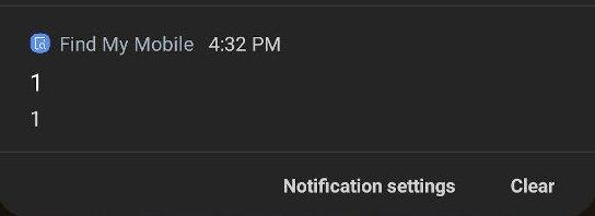samsung notificação