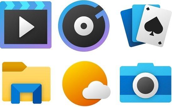 novos ícones windows 10