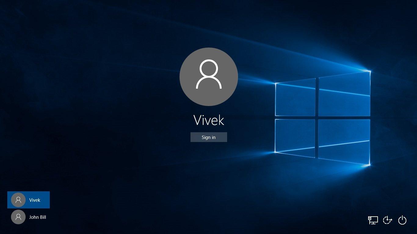 Windows 10 contas locais