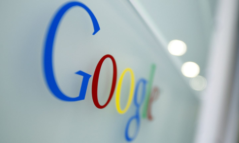 Google logo na parede