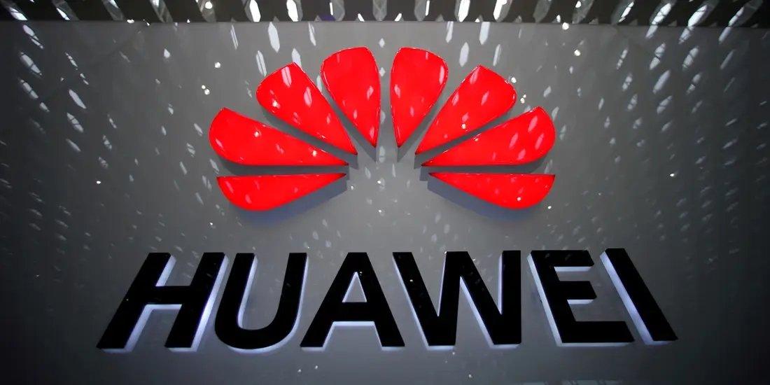 Huawei logo sobre sede