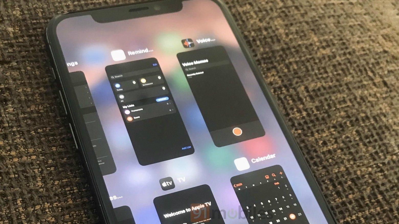 iOS 14 apps abertas