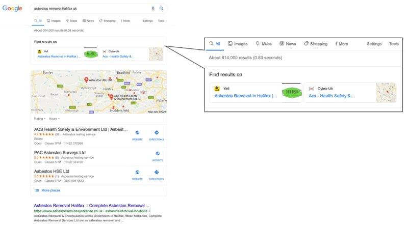 novo sistema pesquisa google empresas