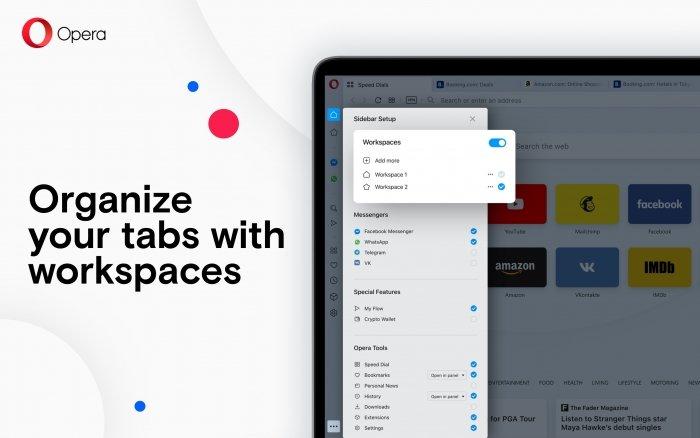 Opera navegador novos grupos