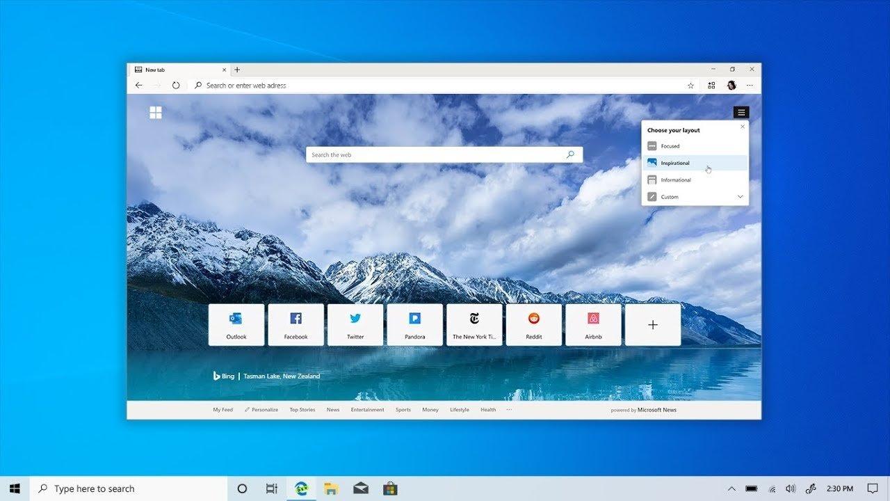 Microsoft Edge novo