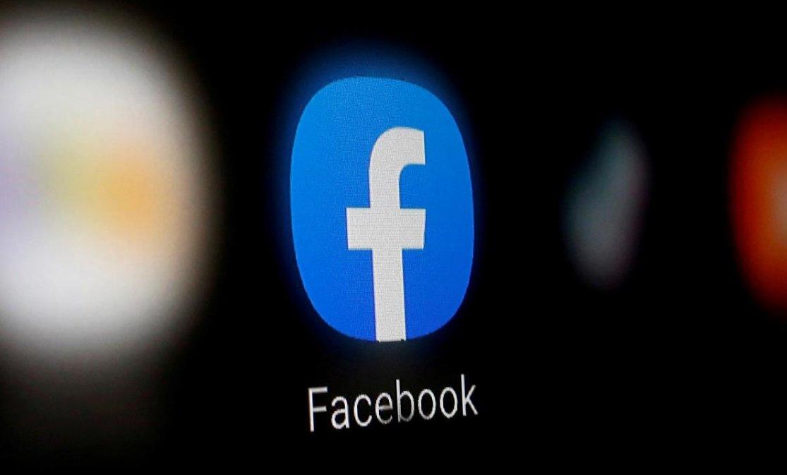 facebook logo de aplicação em smartphone