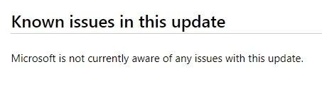 mensagem da Microsoft sobre falha das atualizações