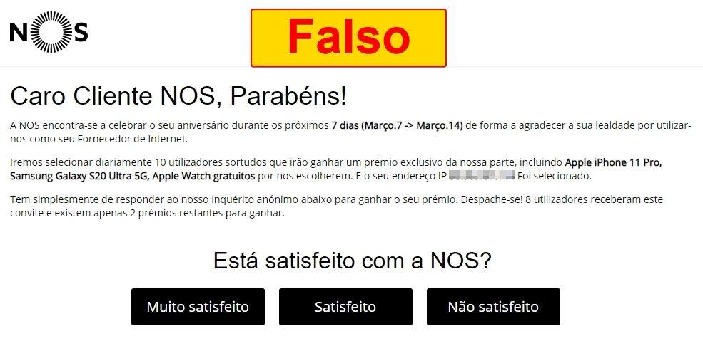 Malvertising NOS falsa
