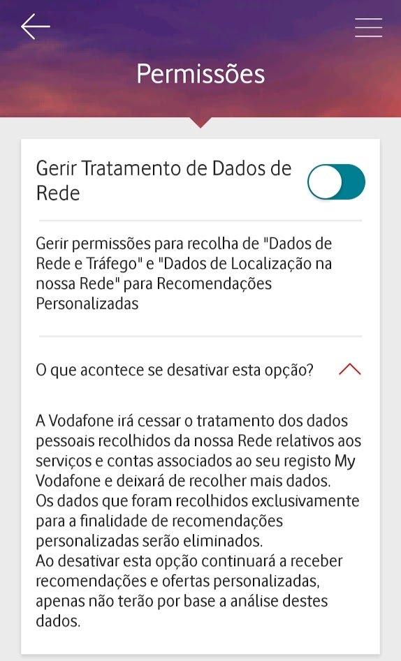 permissão tratamento de dados na rede