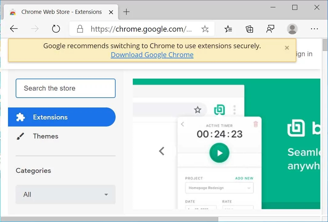 Google novo edge