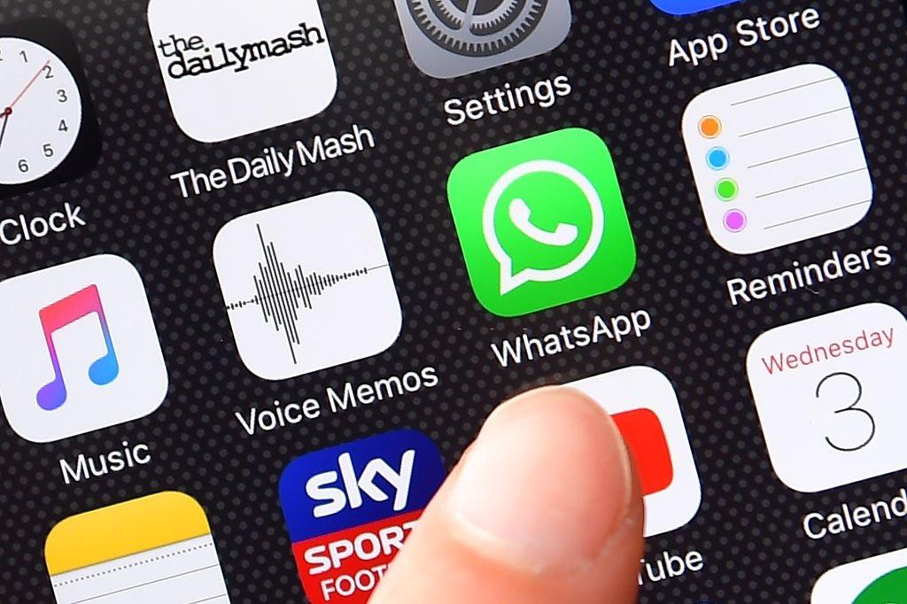 WhatsApp aplicação em smartphone