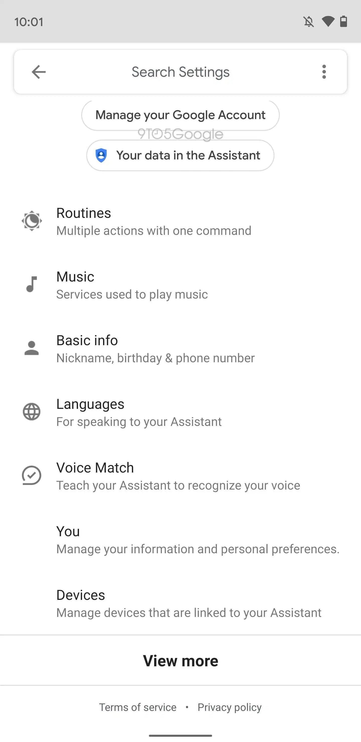 google assistente novas opções