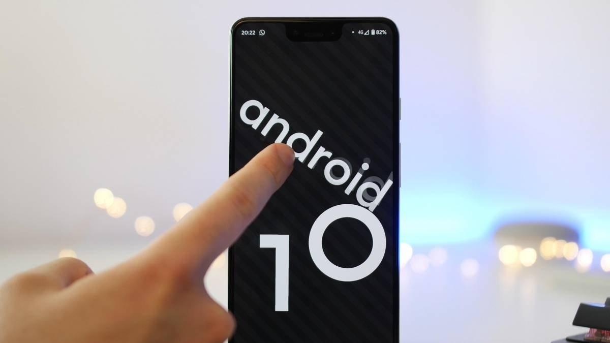 Android 10 imagem smartphone