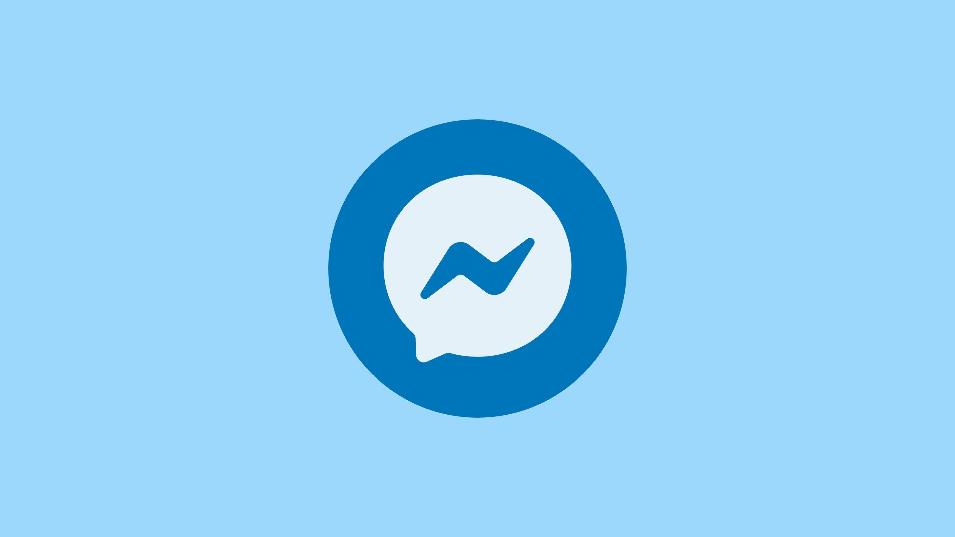 Messenger logo azul