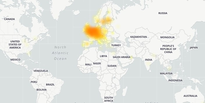 mapa falhas Microsoft team