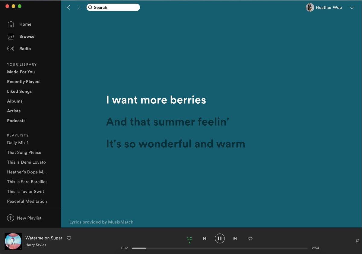 Spotify letra de musicas