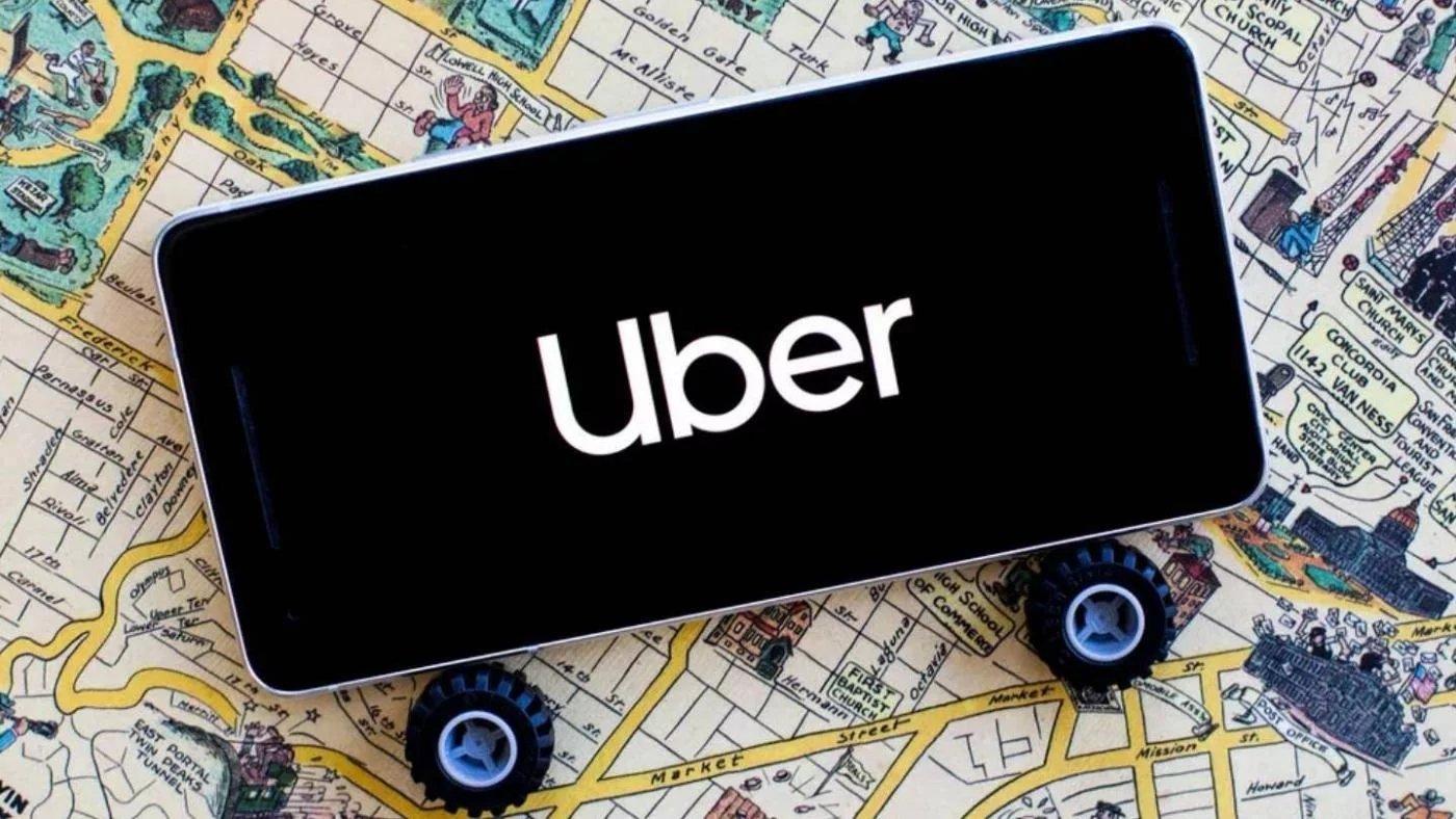 Uber aplicação smartphone
