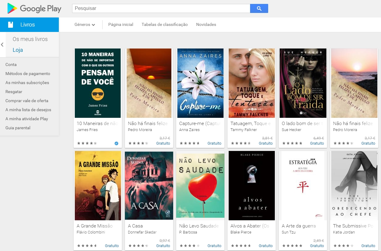Google play Store livros