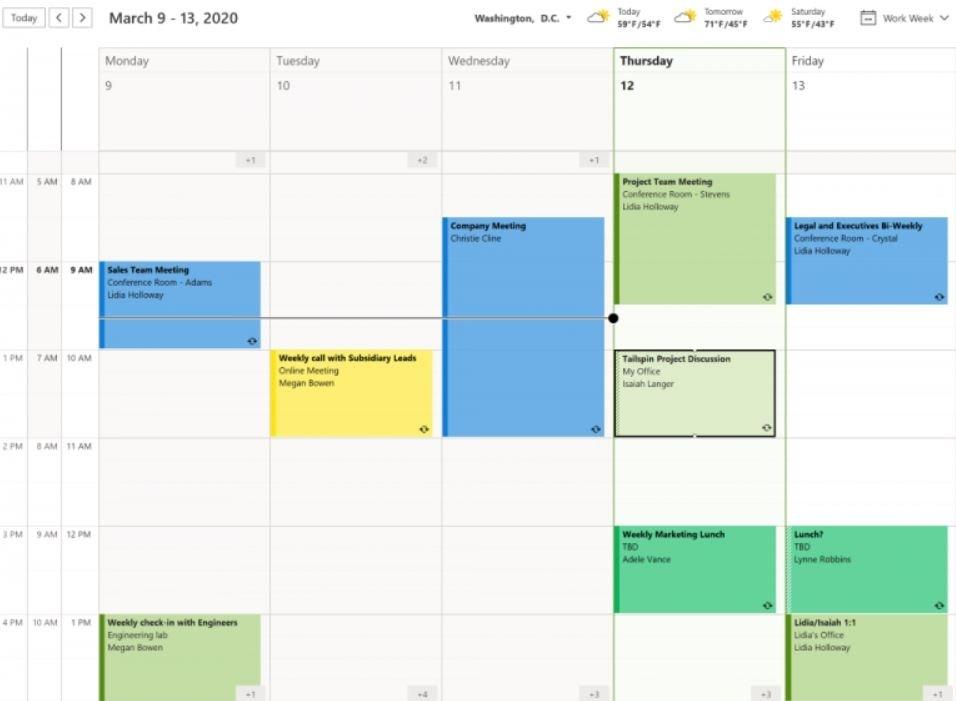 Outlook calendário