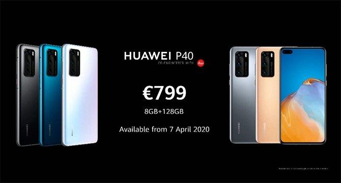 preço Huawei p40