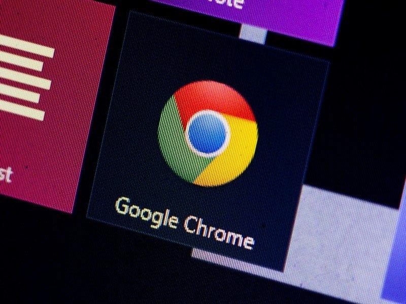Google Chrome logo em menu inicial do windows