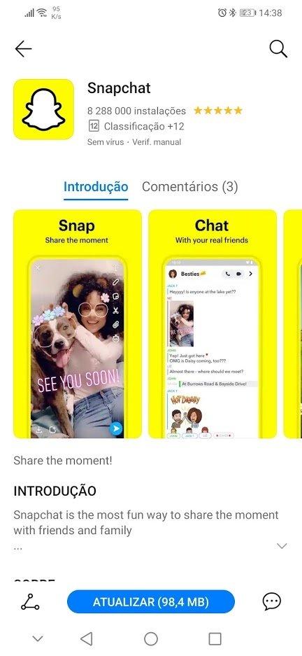 Huawei app gallery snapchat