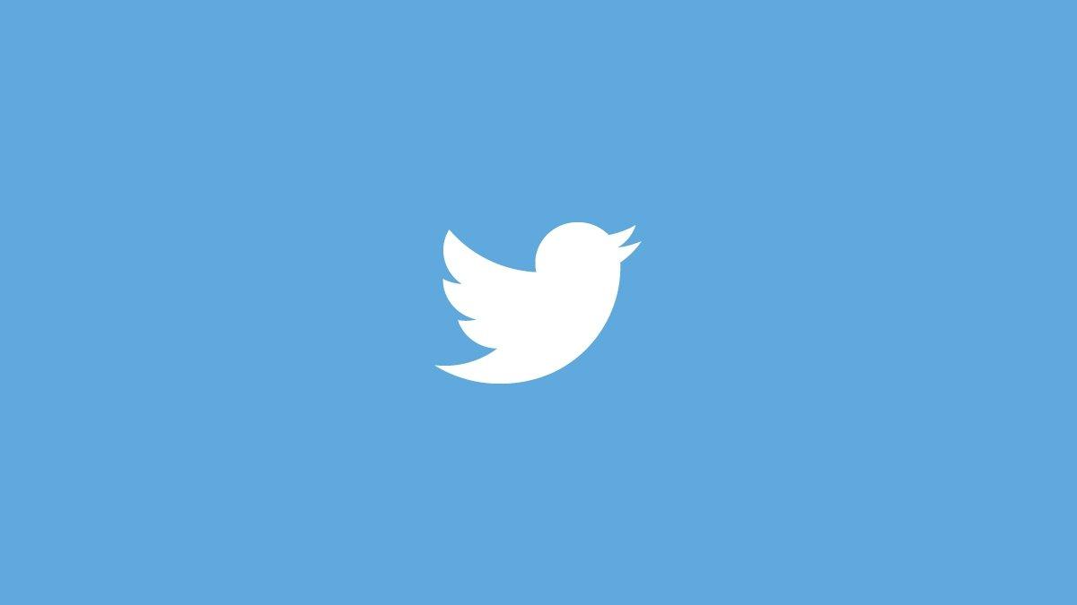 Twitter logo azul