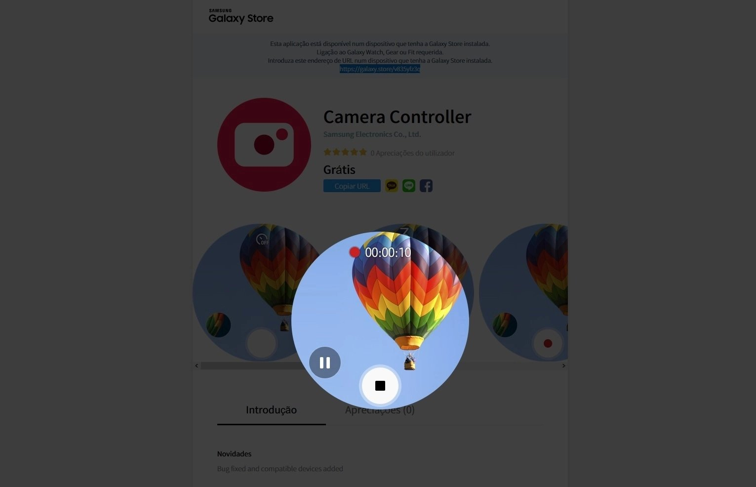 Samsung câmera controller