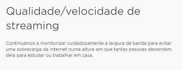 HBO portugal limitação velocidade
