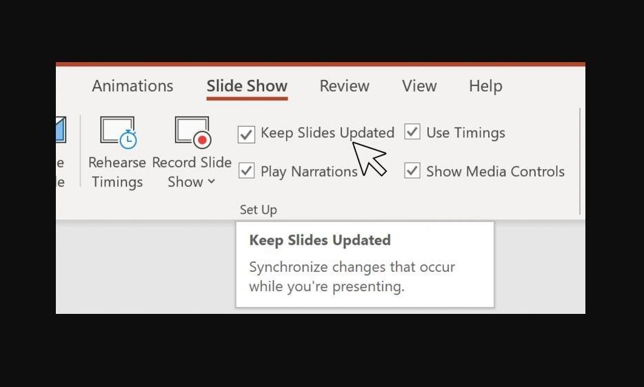 apresentação editar dados slide