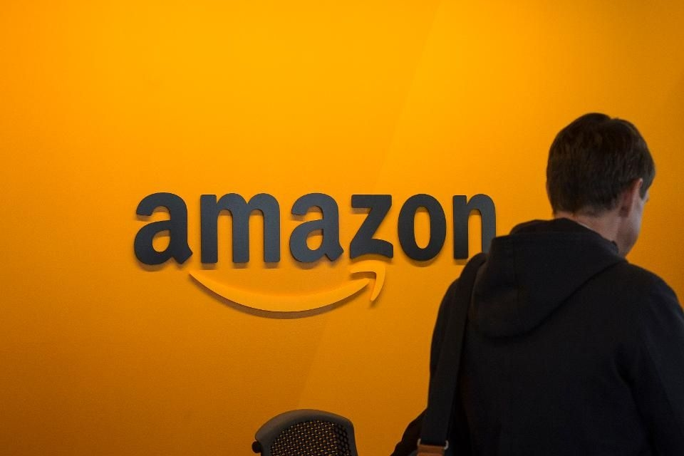 Amazon logo em sede