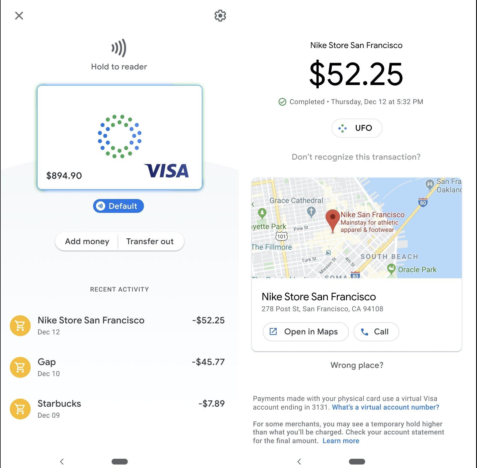 Google card