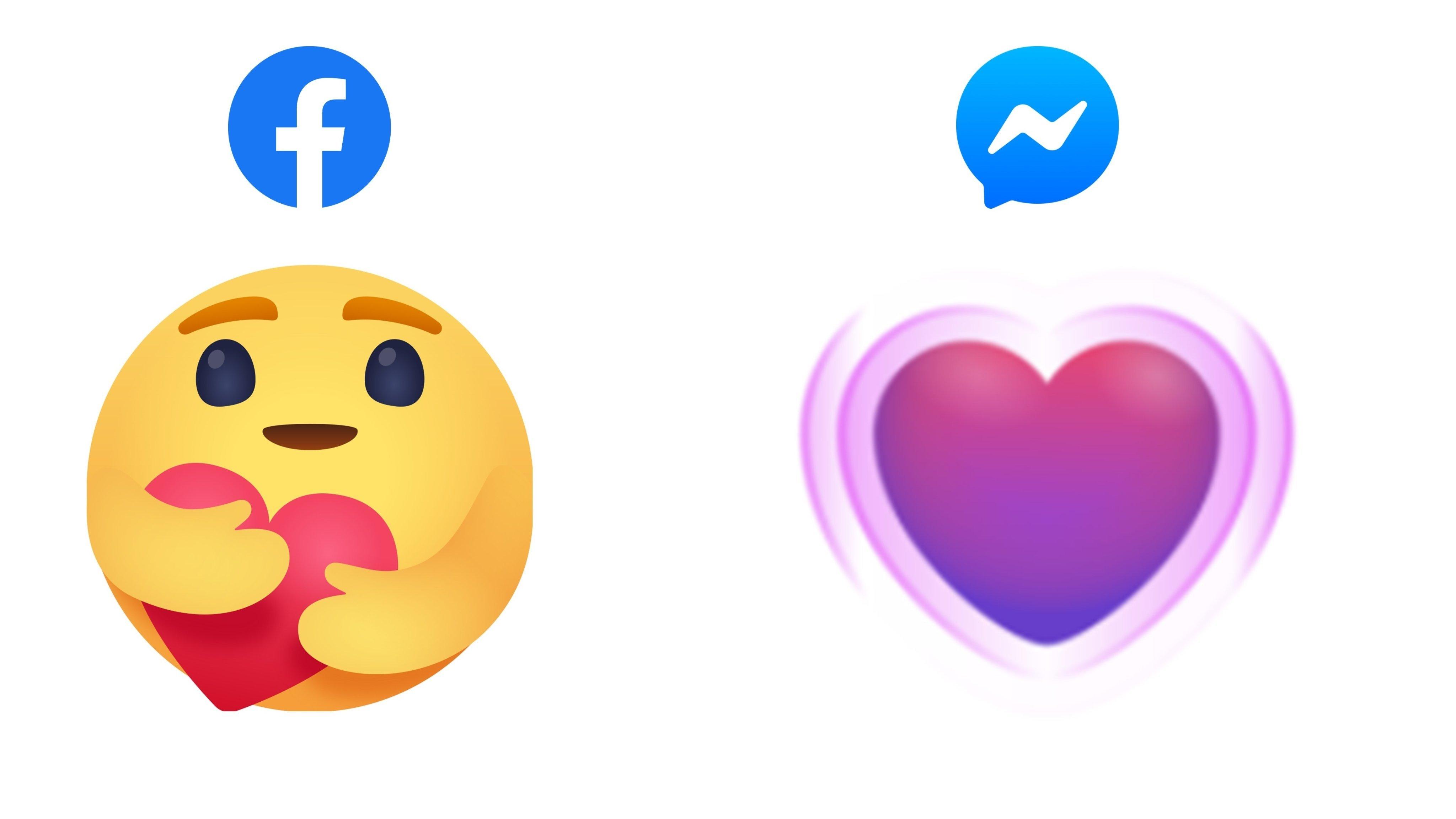 Facebook reação carinho