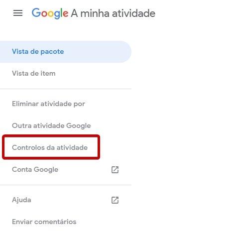 conta google atividades