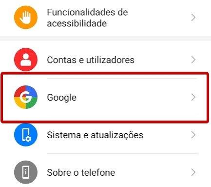 conta google android