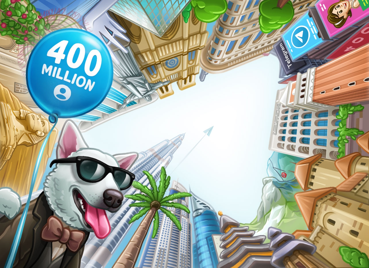 telegram celebração 400 milhões
