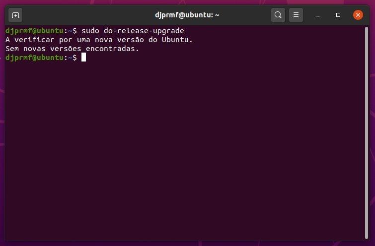 ubuntu update sem atualizações