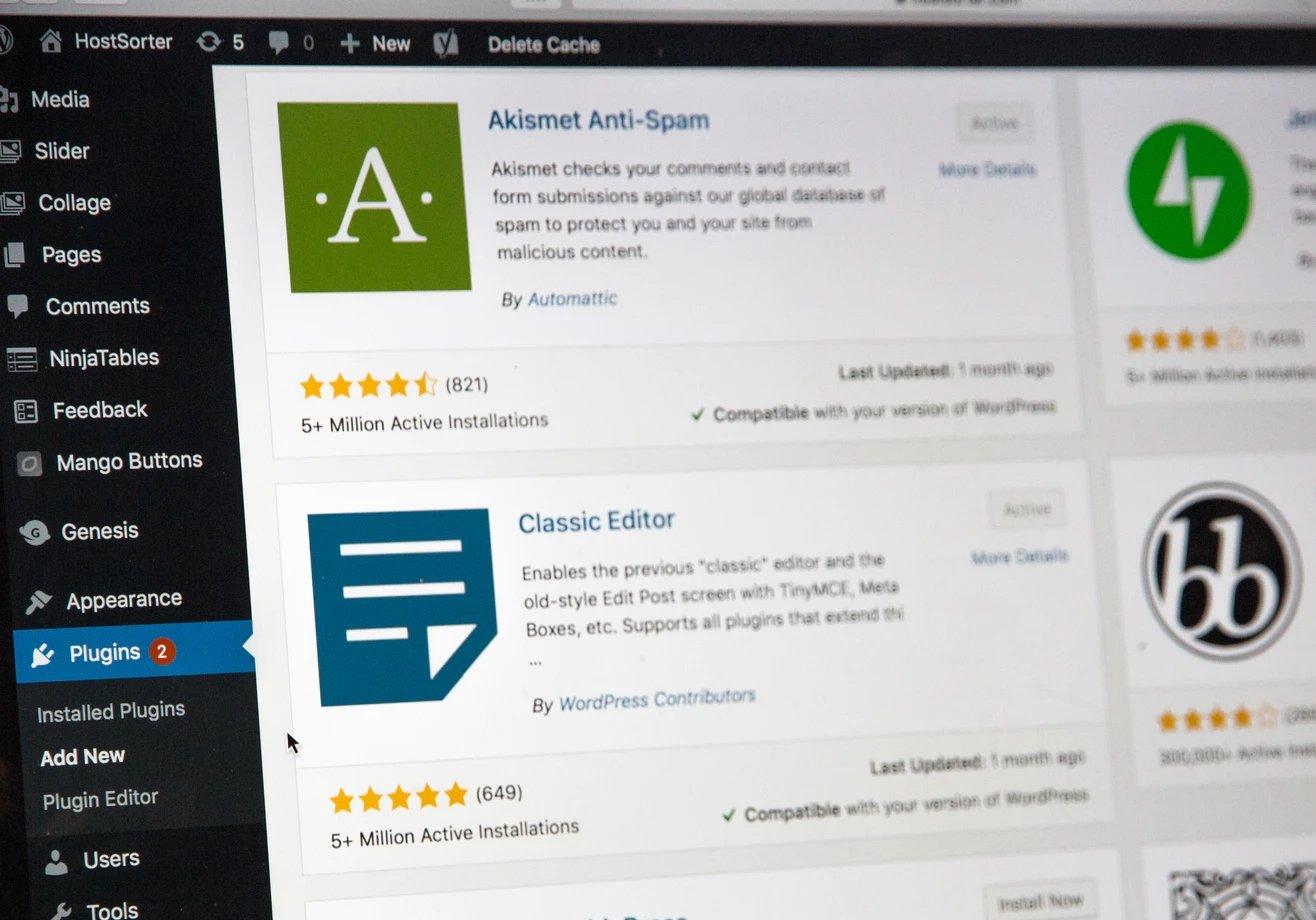 WordPress administração