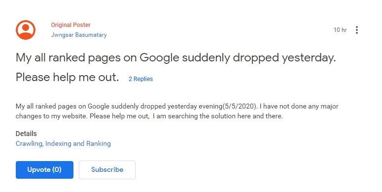 queda pesquisa google