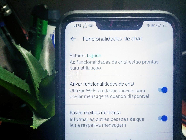 mensagens de chat RCS portugal