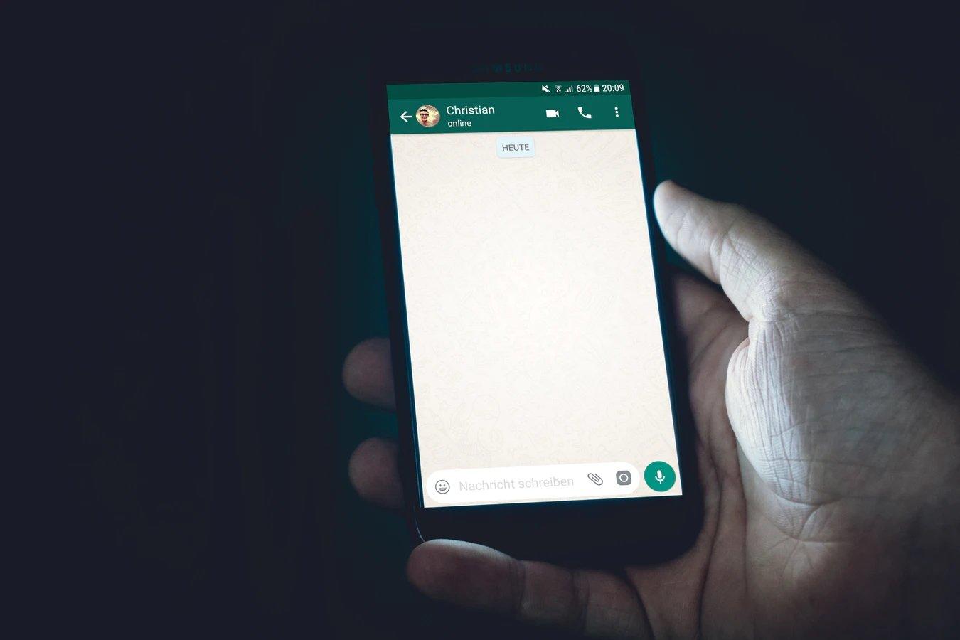 WhatsApp aplicação em mensagens