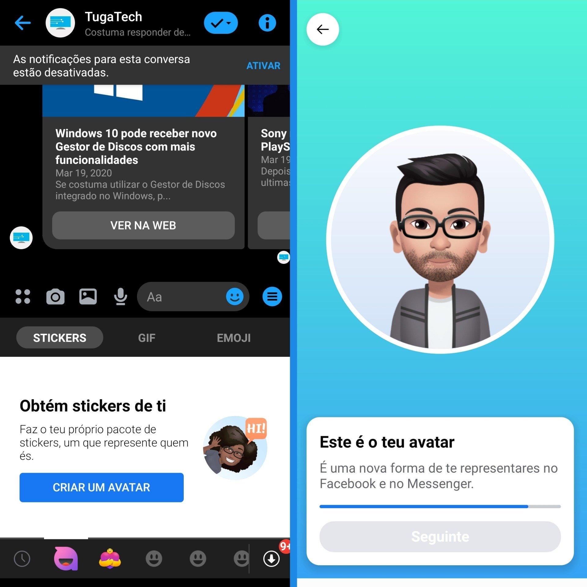 avatares messenger