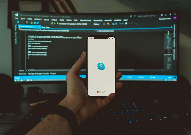 Skype aplicação smartphone