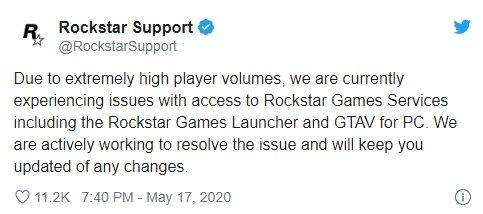 falha rockstar servidores