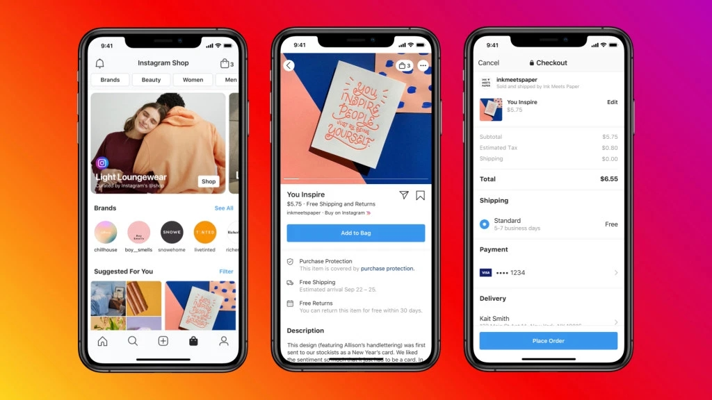 Instagram facebook shops