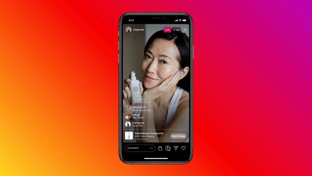 Instagram live produtos
