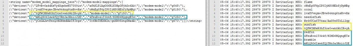 código fonte com referências pixel 5